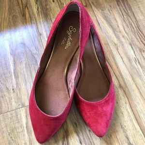Seychelle Skip a Beat D'Orsay Flats - Red Suede
